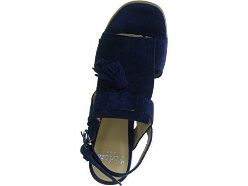 Perlato Damen Sandalette Blau
