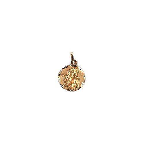 DIAMANTLY Medaille ange or jaune 750 diamante