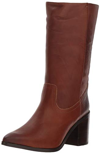 STEVEN by Steve Madden Women's Frida Western Boot, Cognac Leather, 7.5 M US