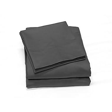 400 Thread Count 100% Cotton Sheet Set, Soft Sateen Weave,Queen Sheets, Deep Pockets,Hotel Collection,Luxury Bedding-Bestseller- Super Sale 100% Cotton, Queen Grey by Callista Fine Linen