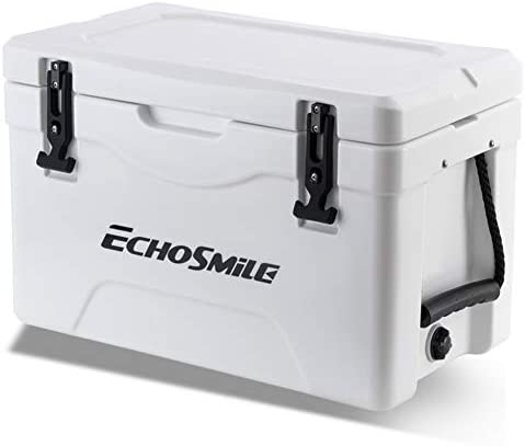 EchoSmile 30 Quart Rotomolded Cooler, Portable Ice Chest Cooler with Durable Handles, Great Gift for Outdoor Golf, Camping, Picnic, Sea Fishing 36-Can Capacity