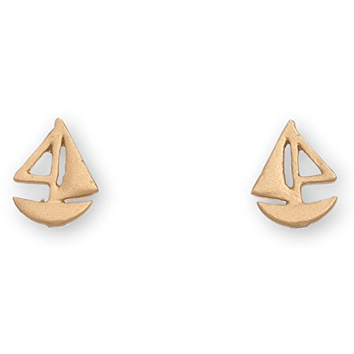 Gold Sailboat - Stud Buds Gold Sailboat Nickel Free Earrings from Howard's Inc