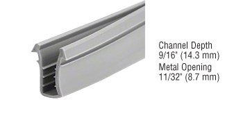 CRL Glazing Vinyl 9/16'' Channel Depth 11/32'' Metal Opening -1000' Roll by CR Laurence by CR Laurence