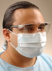 GCFCX PT# GCFCX- Mask Face Crosstex Fluid Resistant White Anti-Fog LF 40/Bx by, Crosstex International