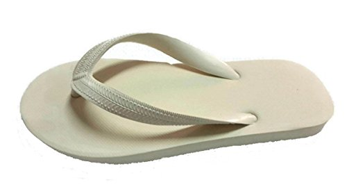 Ruay Tang Mens Gummi Strand Flip Flops Sandaler Grädde