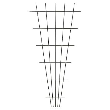 Großartig Xclou Gitterspalier in V-Form aus hochwertigem Metall, Rankgitter  GZ09