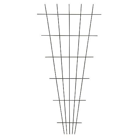 Xclou Gitterspalier in Braun mit 4 Streben, wetterfestes Metallspalier kunststoffbeschichtet, Rankgitter gesintert, Drahtgitter inklusive Dübel und Schrauben, Maße: ca. 60 cm x 150 cm 361060