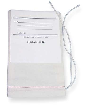 Drawstring Mailing Bagw/ Tag, 8x5in, PK100 by Midwest Pacific