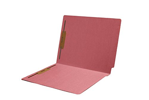 11pt Folders, Assorted Colors, Full Cut 2-Ply END TAB, Letter Size, Fastener Pos #1 & #3 (Box of 50) (Pink)