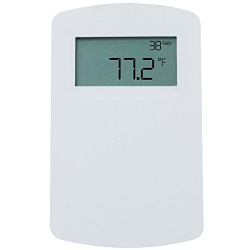 (Dwyer N. American Wall Mnt RH/Temp Transmitter, RHP-2N44-LCD, 2% Acc, RH/Temp Output, w/ LCD)