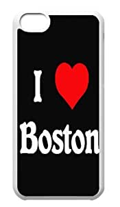I Love Boston Hard Durable Back Case Protective For Your iphone 5cC Skin