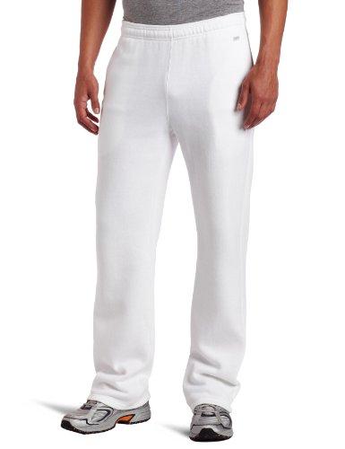 Soffe Men's Training Fleece Pocket Pant White Large (White Pants Men Workout)