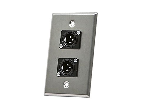 (Monoprice 107398 XLR Male 3 -Pin Two-Port Zinc Alloy Wall Plate)