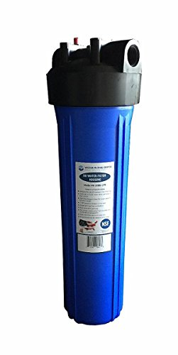 H-20BB-1PR 20'' Big Blue (BB) Water Filter Housing for Whole House, high flow, blue sump/black cap, 1'' NPT, with pressure release (Single Housing) by Water Filters Depot (WFD)
