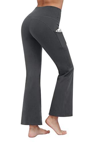 (Fengbay Bootcut Yoga Pants, Women's Bootleg Yoga Pants with Pockets Tummy Control 4 Way Stretch Plus Size Yoga Pants Workout Pants)
