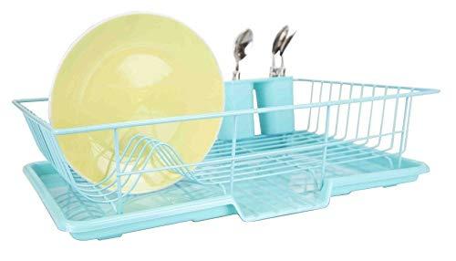 "Home Basics DD47451 3-Piece Set  Dish Drainer, 19"" x 12"" x 5"
