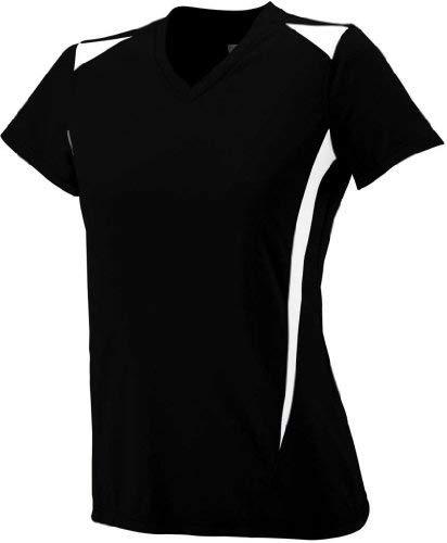Augusta Sportswear 1055 Women's Premier Jersey, Black/White, Medium