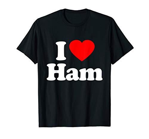 I Love Ham Heart Funny T-Shirt]()