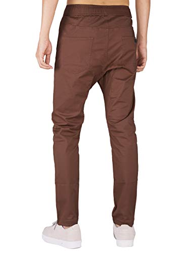 Chino Slim The Cotone Pantaloni Casual Fit Awoken Marrone Scuro Uomo Sportivi Jogging ggrEHq