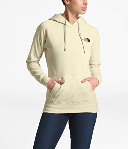 - The North Face Red Box Pullover Hoodie - Women's Vintage White/Burnt Olive Green Woodland Camo Print Medium
