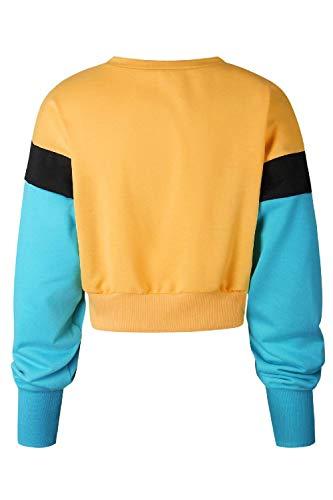 Top Sweatshirts Pulls Femmes Tops Automne Rond Longues Mode Orange Manches Patchwork Casual Culture Dames Chandail Col Plantual tdxw7qUn8