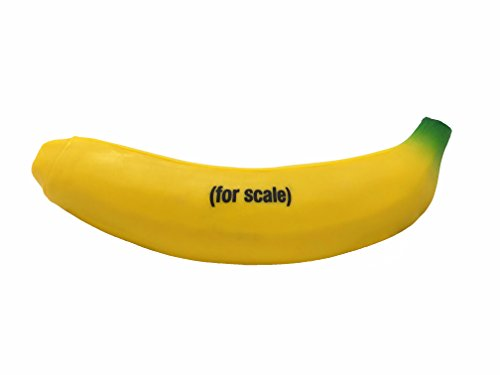 Citadel Black The Official Banana for Scale Stress Relief Toy, Stretchy Glue-Sand Filled Rubber Banana, Full Sized 7 inch Squishy Banana -