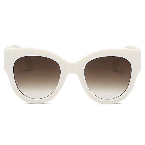 YEZIJIN Women Fashion Unisex Oval Shades Patchwork Sunglasses Integrated UV Glasses ()