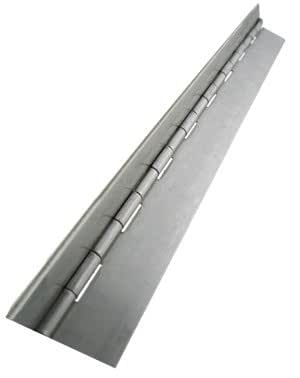 Unfinished 5 Long 1-1//16 Open Width 1//2 Knuckle Length Pack of 1 7//64 Pin Diameter 0.05 Leaf Thickness Stainless Steel 304 Continuous Hinge Without Hole