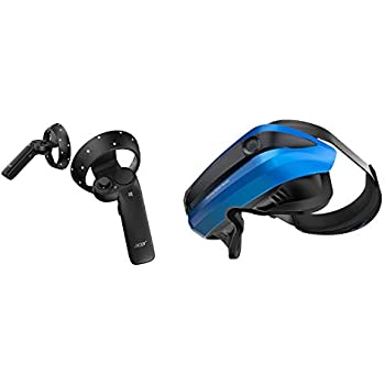 """Amazon.com: Samsung Electronics HMD Odyssey+ Windows Mixed Reality Headset with 2 Wireless Controllers 3.5"""" Black (XE800ZBA-HC1US): Computers & Accessories"""