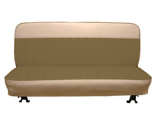 Acme U104-90022W Front Palomino Vinyl Bench Seat Upholstery with White Upper Trim
