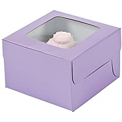 Fun Express Lilac Cupcake Boxes
