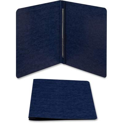 Acco Brands Recycled Report Covers - GBC Recycled Scored Hinge Report Covers, Side Bound, 8.5 -Inch Centers, 3 -Inch Capacity, Dark Blue, 10 Covers per Pack (A7025103)