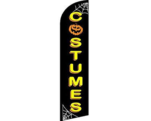 ALBATROS Halloween Costumes Black Yellow Windless Banner Advertising Marketing Flag for Home and Parades, Official Party, All Weather Indoors Outdoors