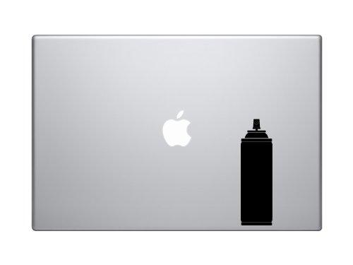 "Spraycan - Graffiti Artist Amateur Auto Body Garage Symbol - 5"" Black Vinyl Decal Sticker Car Macbook Laptop"