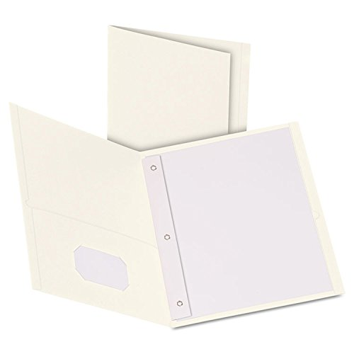 - Oxford 57704 Twin-Pocket Folders with 3 Fasteners, Letter, 1/2