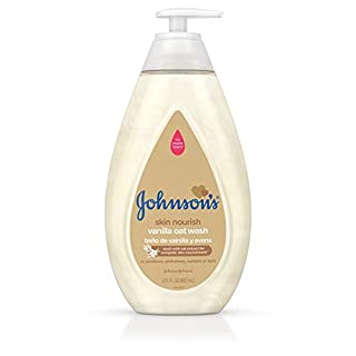 Johnson's Skin Nourishing Baby Wash with Vanilla & Oat Extract, Hypoallergenic & Tear Free Baby Wash, 27.1 fl. oz