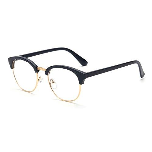 LOMOL Fashion Retro Personality Transparent Lens Semi-rimless Comfortable Myopia Frame - India Half Rim Frames