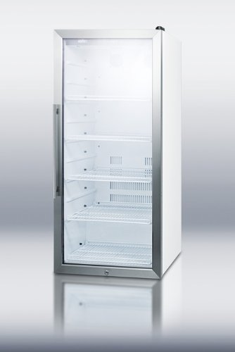 """Summit Scr1005 48"""" Tall Beverage Merchandiser With Stainless Steel Trim Led L.. 12"""