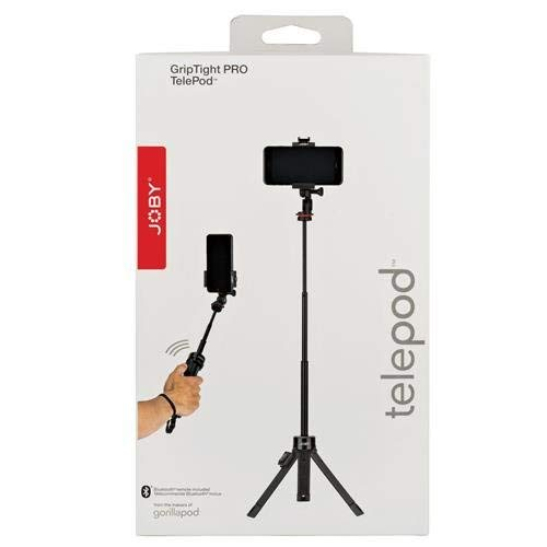 Joby GripTight PRO TelePod for Smartphones & Action Cameras, Up to 2.2 lbs Capacity, Black/Grey