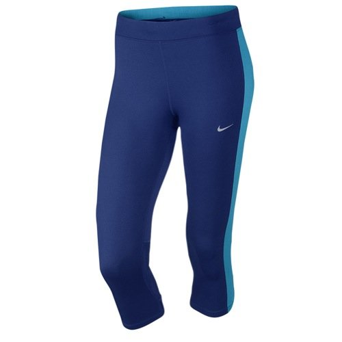 Nike Womens Essential Capris (XS, Deep Royal Blue/blue lagoon/blue lagoon/silver)