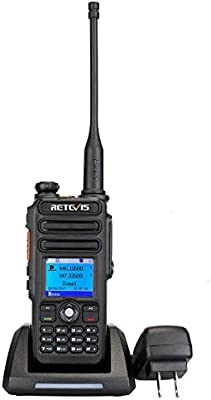Retevis RT82 DMR Radios Dual Band Digital Two Way Radio Waterproof IP67  Color Display 3000 CH 10000 Contacts Ham Amateur Radio(1 Pack) with Record