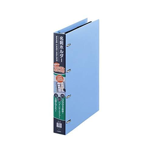 (まとめ)ライオン事務器 名刺ホルダー A4タテ4穴 300枚 ヨコ入れ ブルー MH-300C 1冊 【×5セット】 生活用品 インテリア 雑貨 文具 オフィス用品 名刺収納 カードファイル 14067381 [並行輸入品] B07L35HC19