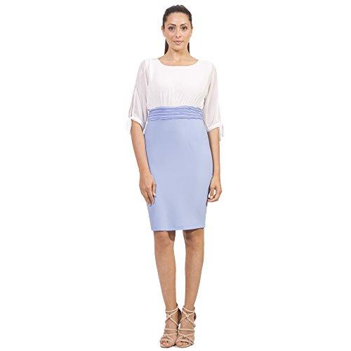 Manica Abito Fashion A Mezza Tubino Doisè Azzurro w1xvTnqRR