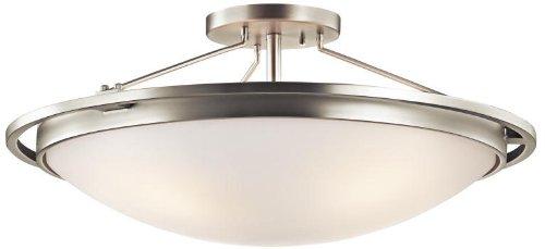 Kichler 42025NI Semi-Flush 4-Light, Brushed Nickel