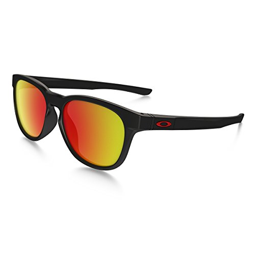Oakley Men's Stringer Non-Polarized Iridium Rectangular Sunglasses, Matte Black, 55.02 - $16 Sunglasses Oakley