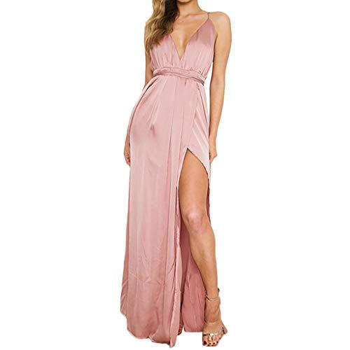 Aanny Dress Summer Dress, for Women Summer Elegant Long Maxi Waistband Evening Party Beach Dresses [Size: S-2XL] ()