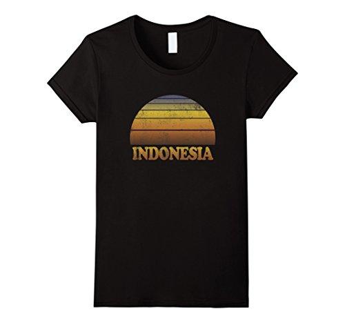 [Womens Indonesia T Shirt Jakarta Beach Teens Adult Kids Cool Attire Small Black] (70s Attire For Womens)