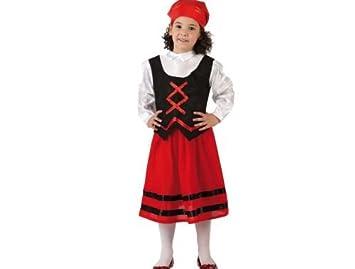 Atosa - Disfraz de pastora rojo y negro, t1