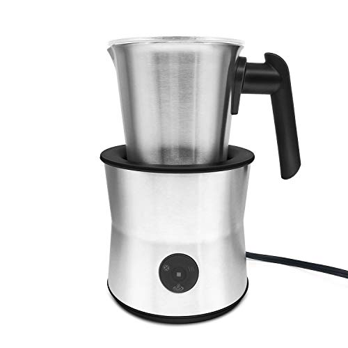 Fortune Candy Milk Frother, Stainless Steel, Electric Automatic Milk Foam Maker and Warmer for Latte, Cappuccino, Hot Chocolate, ETL and CE Certified, Dishwasher Safe Removable Milk Jug, BPA Free