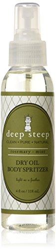 Deep Steep Dry Oil Body Spritzer, Rosemary Mint, 4 Ounce - Olive Body Spray